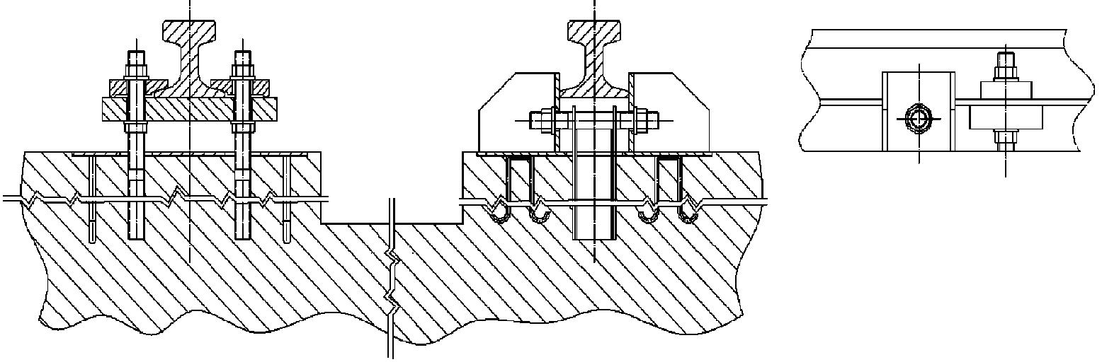 火箭橇轨道结构示意图